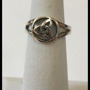 Open Sterling Silver Celtic Design Ring